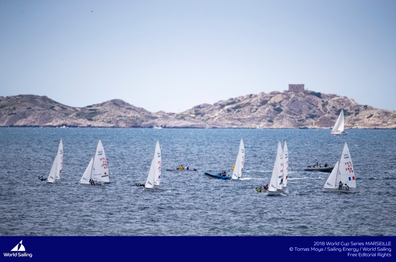 Sailing�s 2018 World Cup Series will conclude with the Final in Marseille, France from 3-10 June 2018. Following three Rounds in Japan, USA and France, the Final sees the Series Champions crowned in eight fleets. A total of 212 sailors from 34 nations will race in 156 boats in Marseille. © Tomas Moya/Sailing Energy/World Sailing © Tomas Moya/Sailing Energy/World Sailing